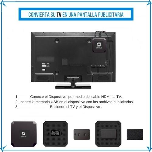 convierta su tv en una pantalla publicitaria